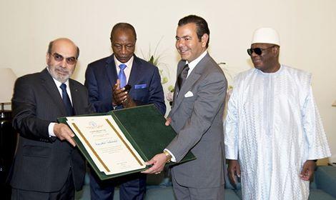 صاحب السمو الملكي يتسلم جائزة الفاو التي منحت للمغرب سنتين قبل الموعد المحدد لها لبلوغه أهداف الألفية للتنمية المتعلقة بمحاربة المجاعة