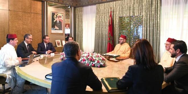 جلالة الملك يترأس جلسة عمل بخصوص برامج تنمية الطاقات المتجددة بالمملكة