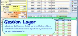 برنامج معلوماتي لتسيير الكراء والإيجار  Gestion Loyer